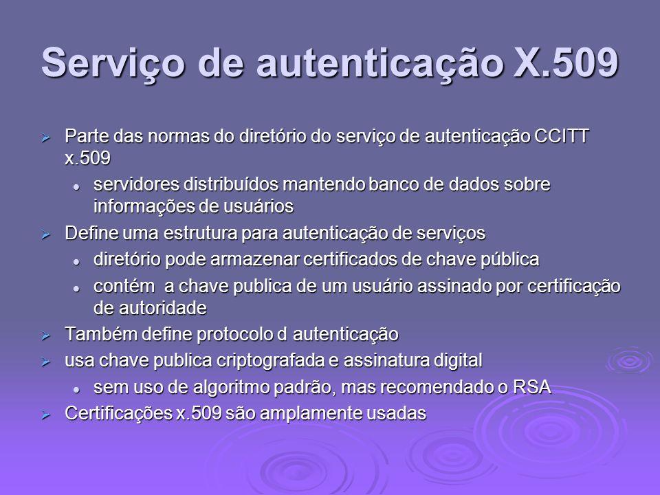 Serviço de autenticação X.509