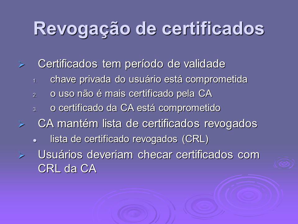 Revogação de certificados