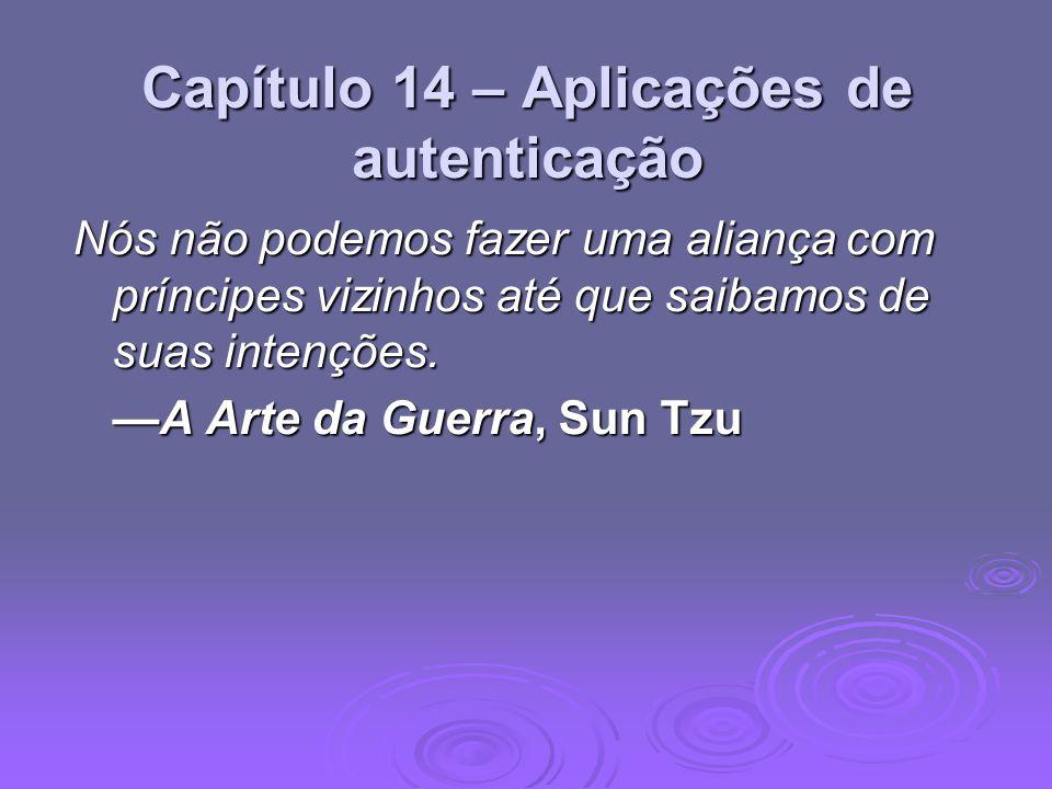 Capítulo 14 – Aplicações de autenticação