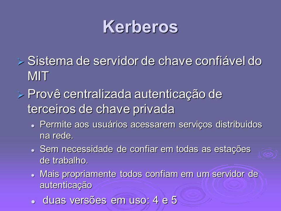 Kerberos Sistema de servidor de chave confiável do MIT