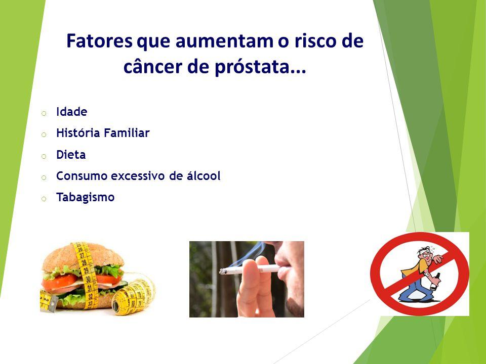 Fatores que aumentam o risco de câncer de próstata...