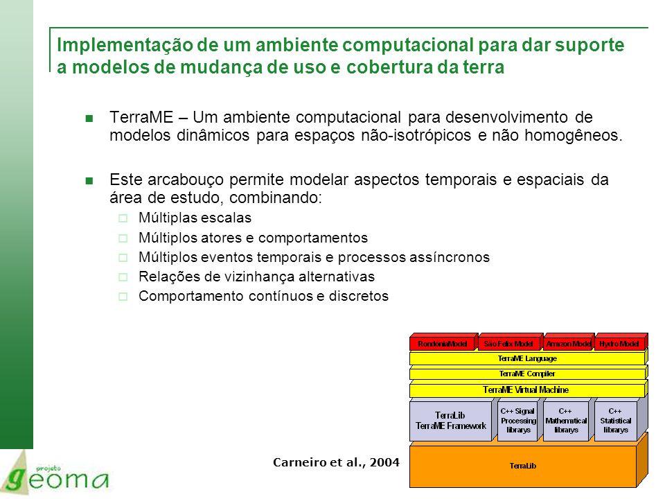 Implementação de um ambiente computacional para dar suporte a modelos de mudança de uso e cobertura da terra