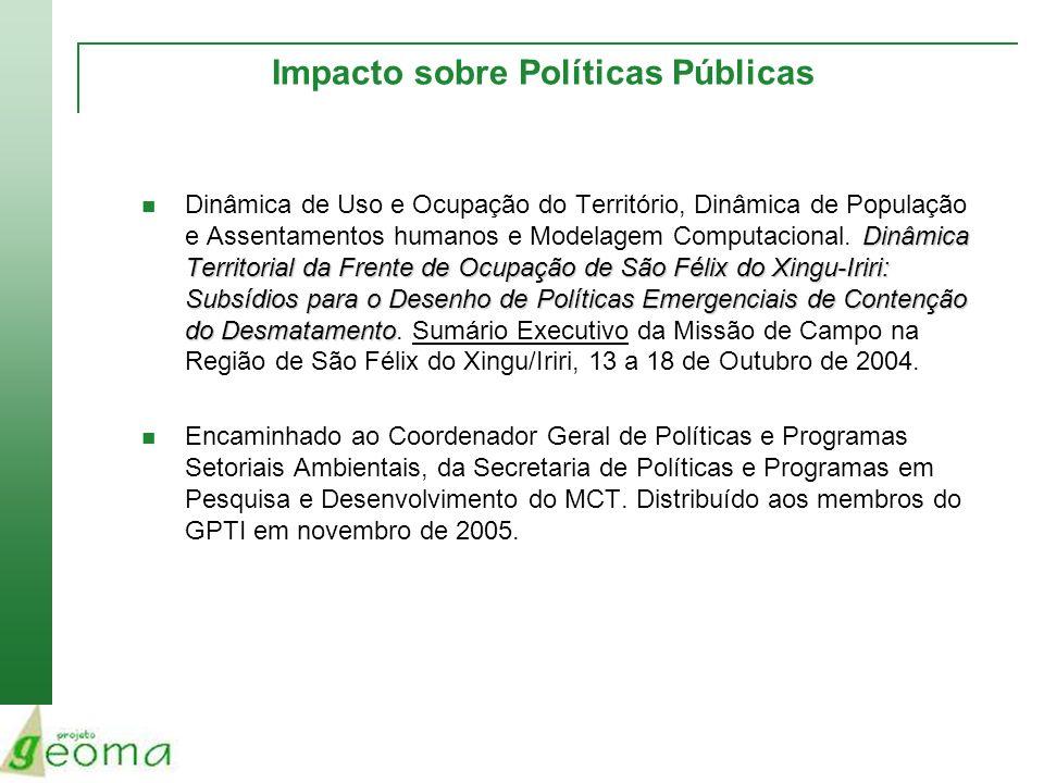 Impacto sobre Políticas Públicas