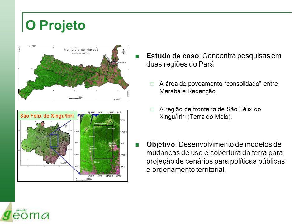 O Projeto Estudo de caso: Concentra pesquisas em duas regiões do Pará