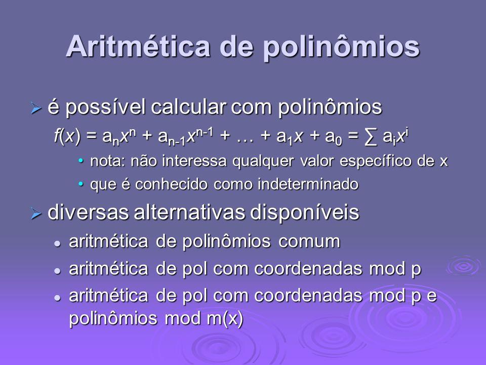 Aritmética de polinômios