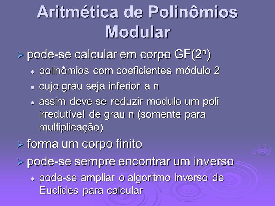 Aritmética de Polinômios Modular