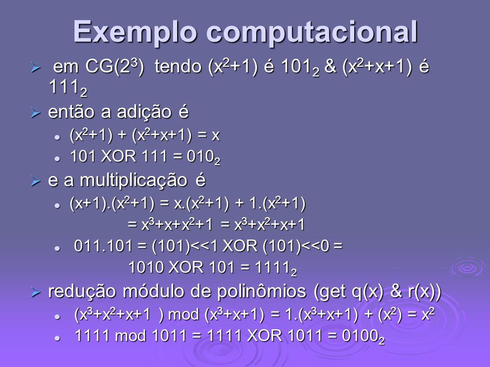 Exemplo computacional