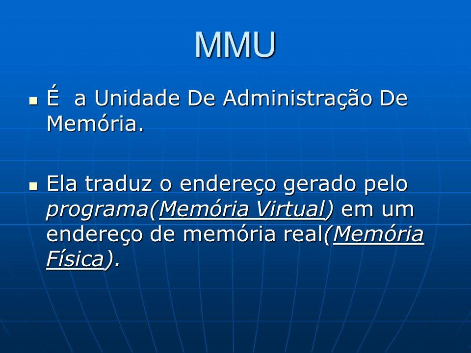 MMU É a Unidade De Administração De Memória.