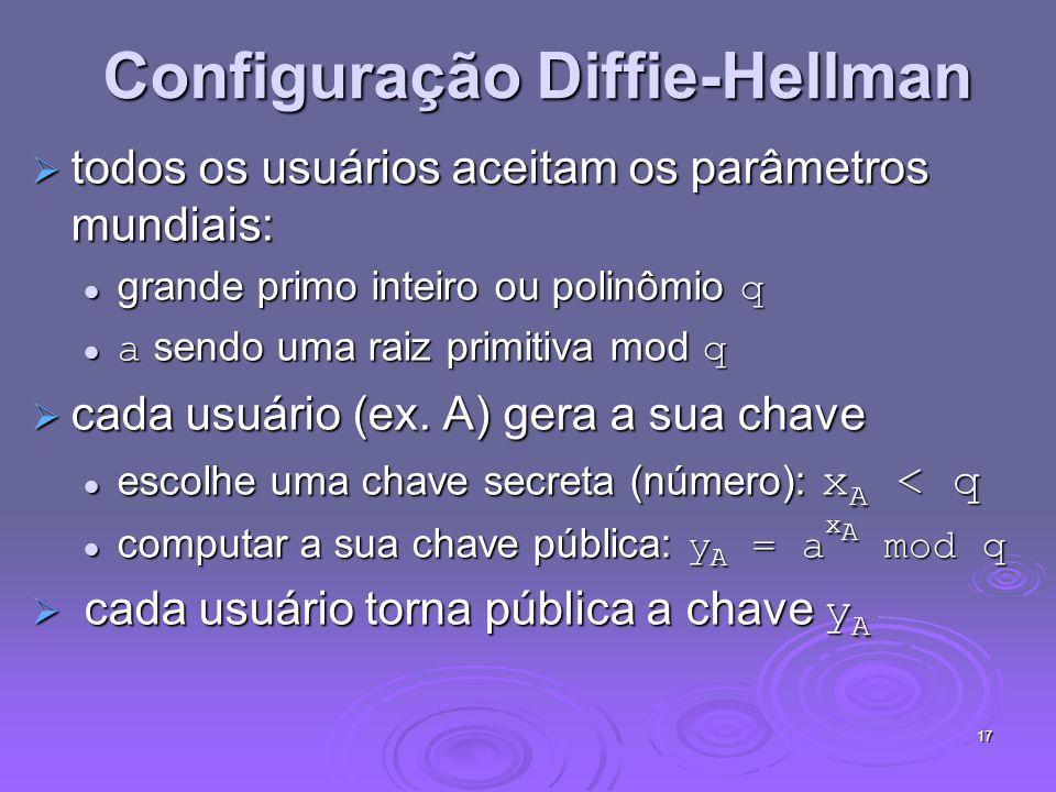 Configuração Diffie-Hellman