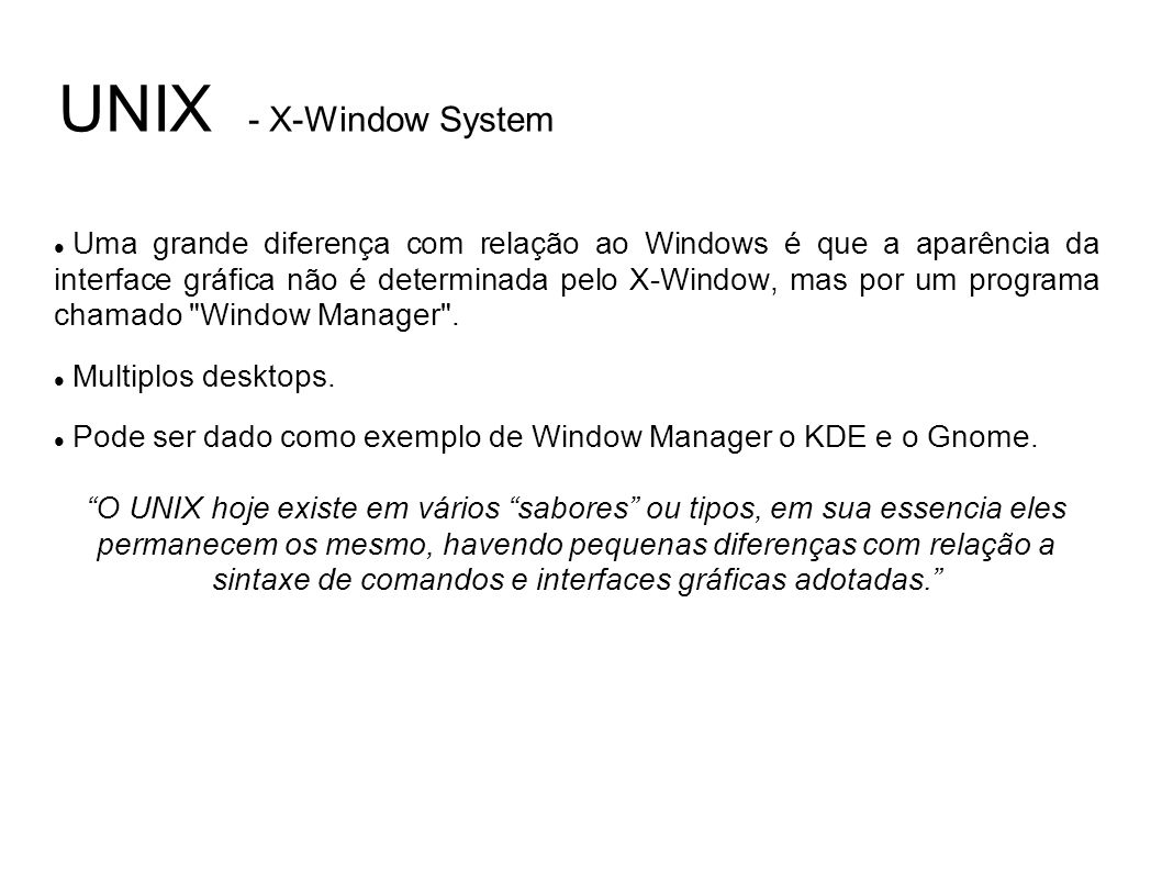 UNIX - X-Window System