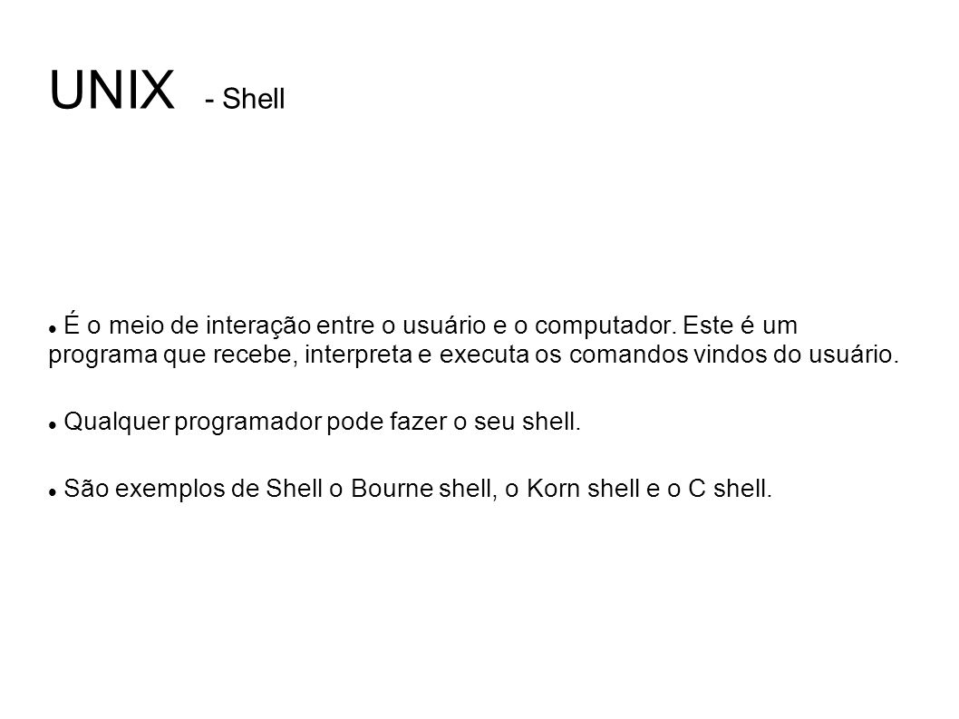 UNIX - Shell