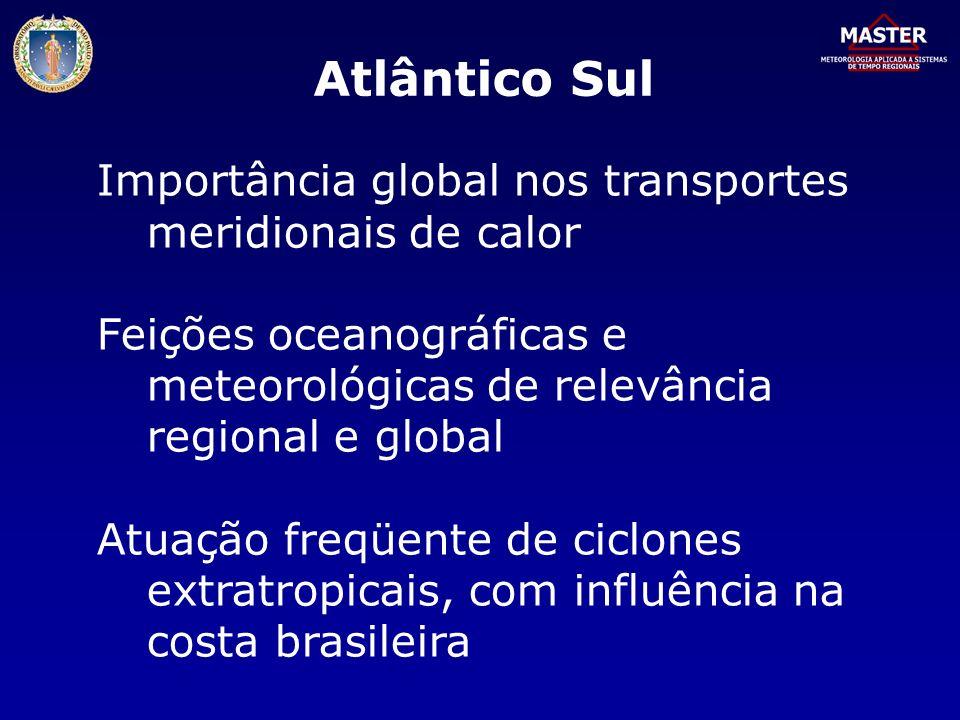 Atlântico Sul Importância global nos transportes meridionais de calor