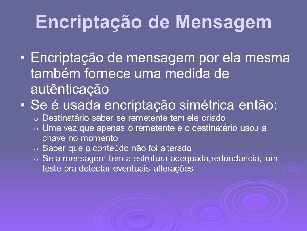 Encriptação de Mensagem