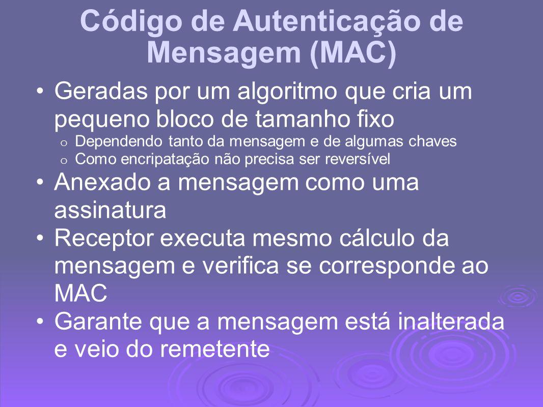 Código de Autenticação de Mensagem (MAC)