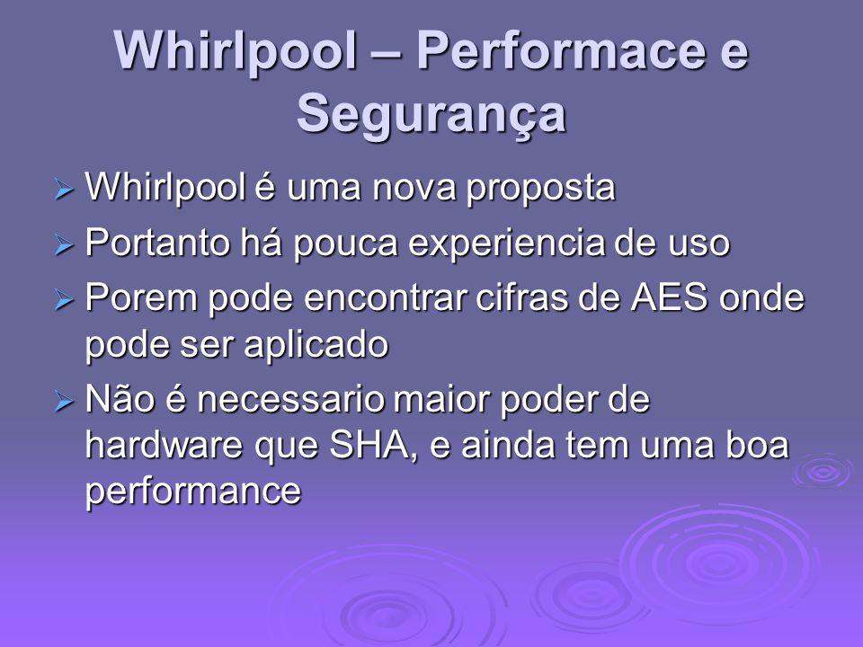 Whirlpool – Performace e Segurança