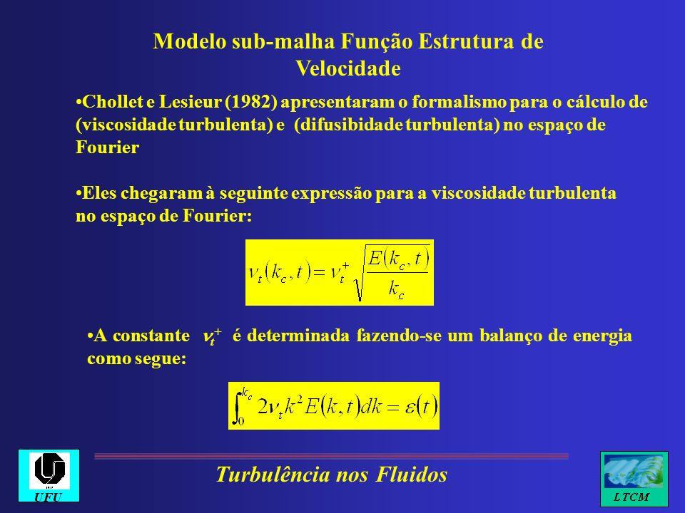 Modelo sub-malha Função Estrutura de Velocidade