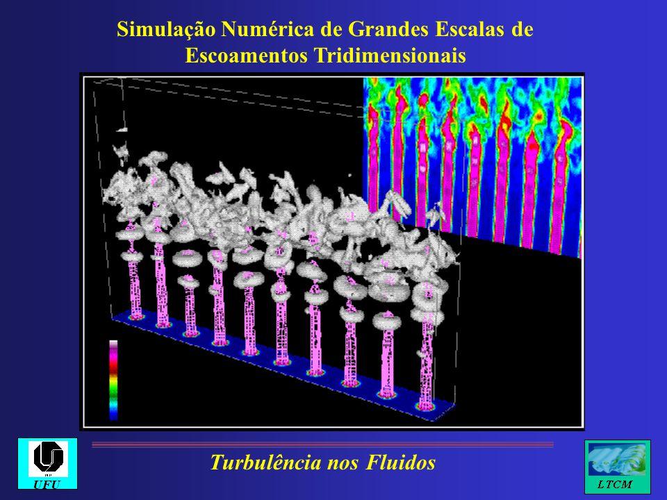 Simulação Numérica de Grandes Escalas de Escoamentos Tridimensionais