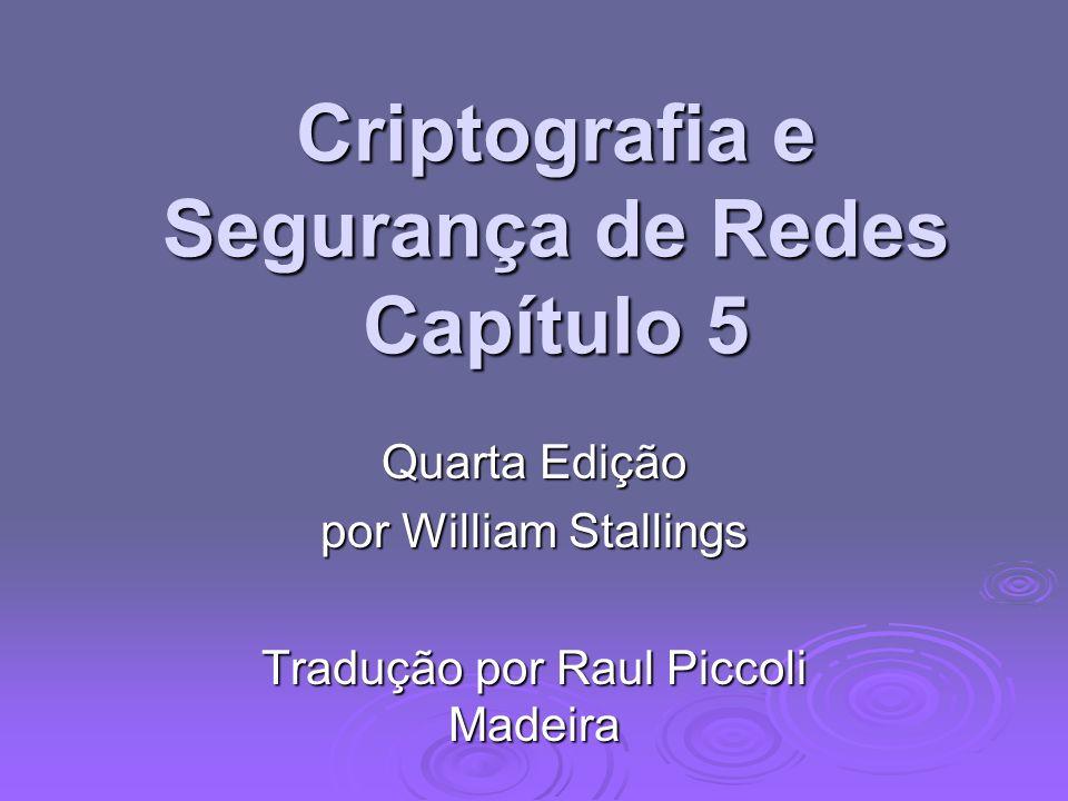 Criptografia e Segurança de Redes Capítulo 5