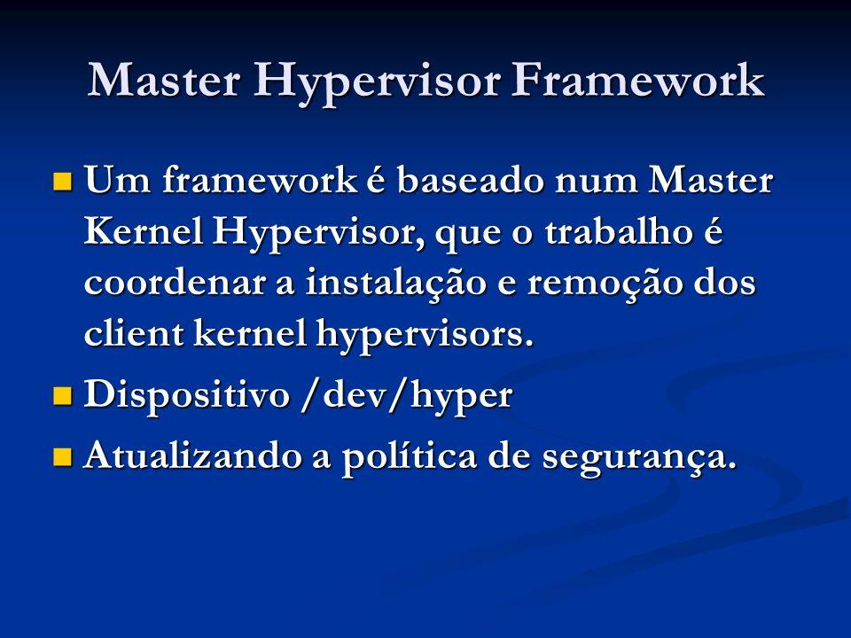 Master Hypervisor Framework