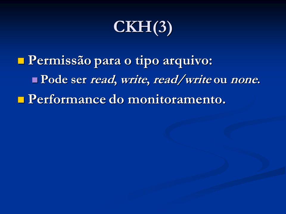 CKH(3) Permissão para o tipo arquivo: Performance do monitoramento.