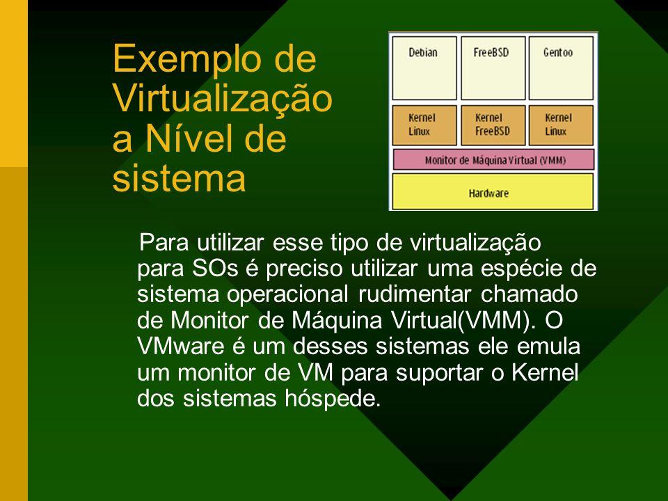 Exemplo de Virtualização a Nível de sistema
