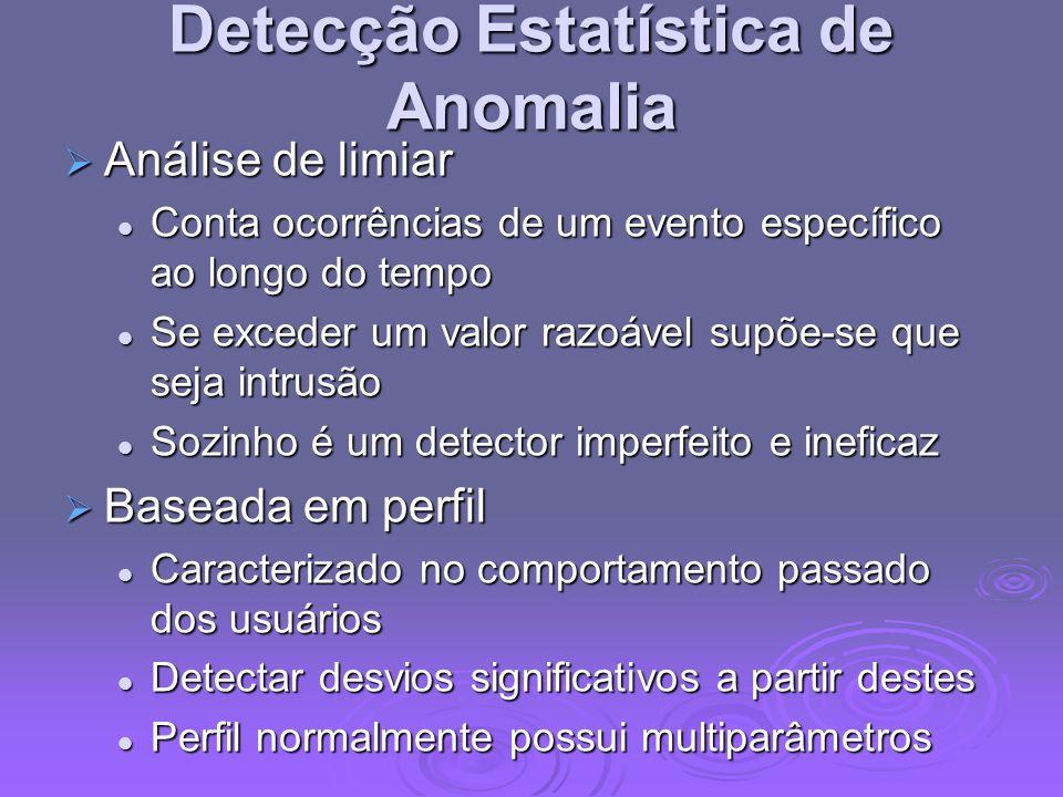 Detecção Estatística de Anomalia