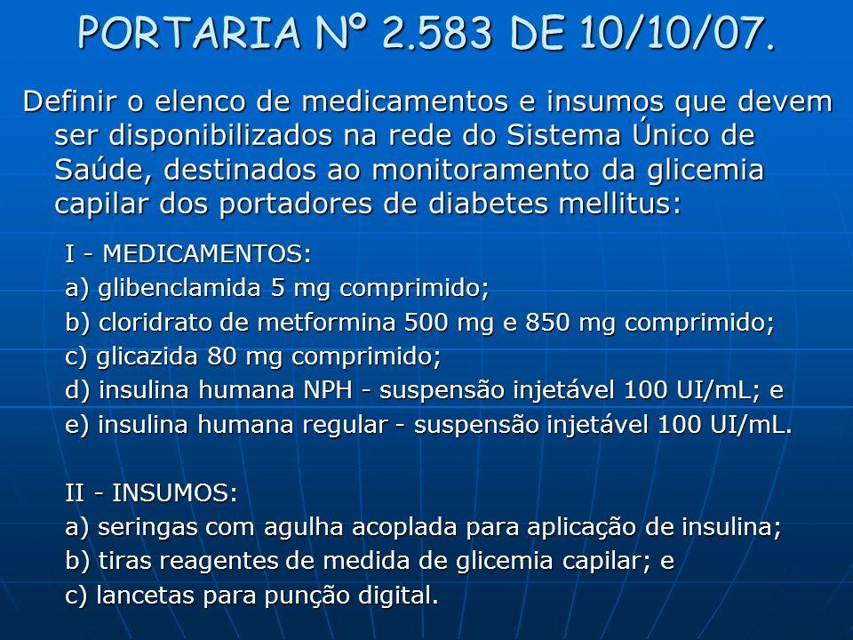 PORTARIA Nº 2.583 DE 10/10/07.