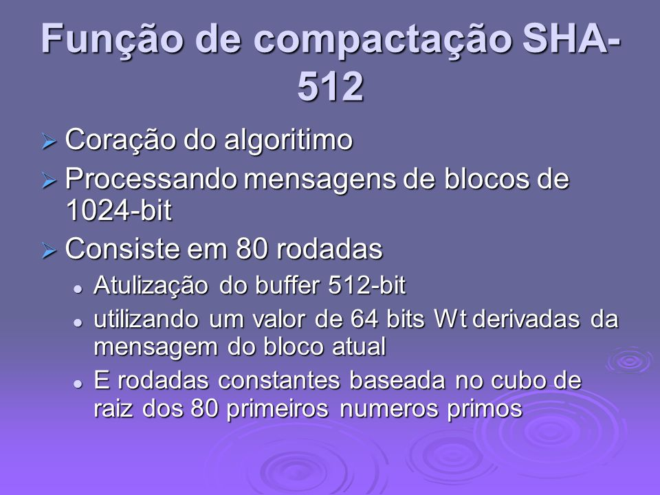 Função de compactação SHA-512
