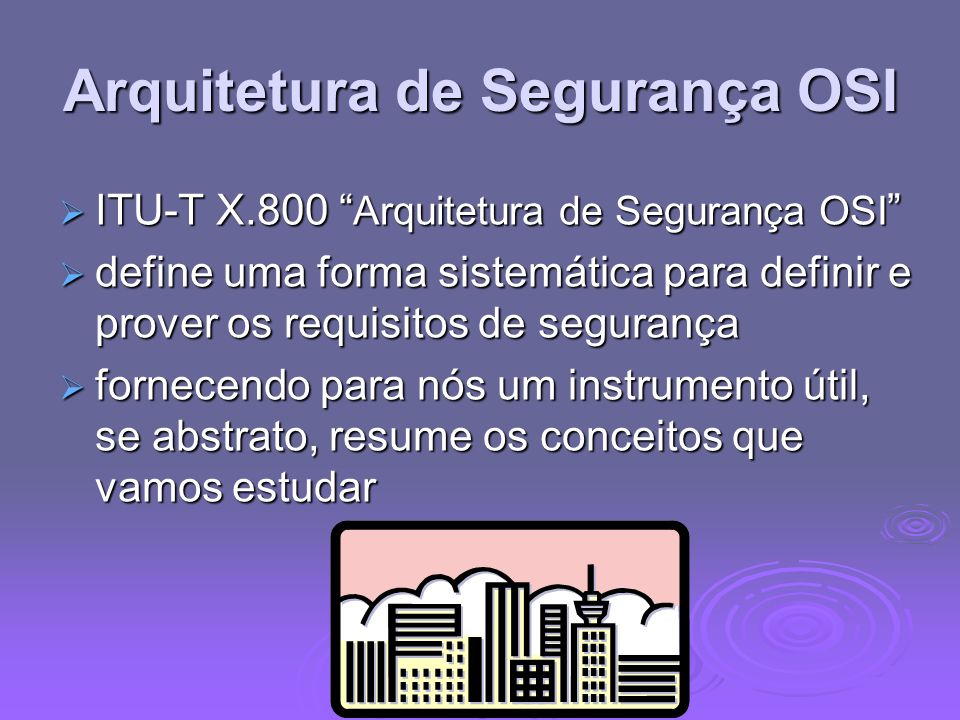Arquitetura de Segurança OSI