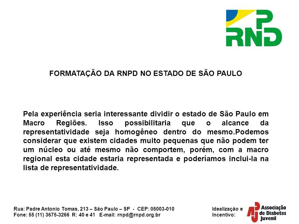 FORMATAÇÃO DA RNPD NO ESTADO DE SÃO PAULO