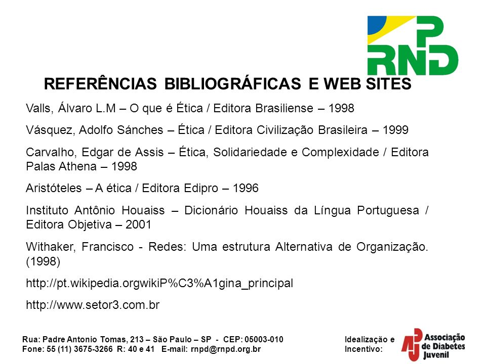 REFERÊNCIAS BIBLIOGRÁFICAS E WEB SITES