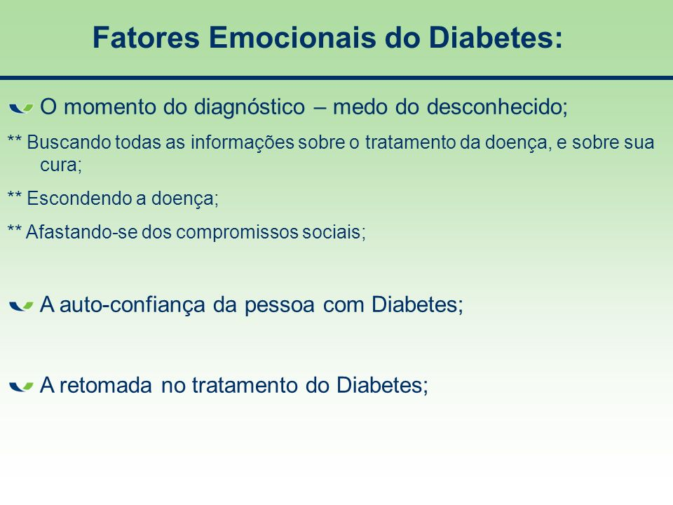 Fatores Emocionais do Diabetes: