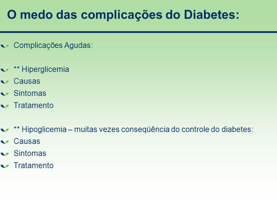 O medo das complicações do Diabetes: