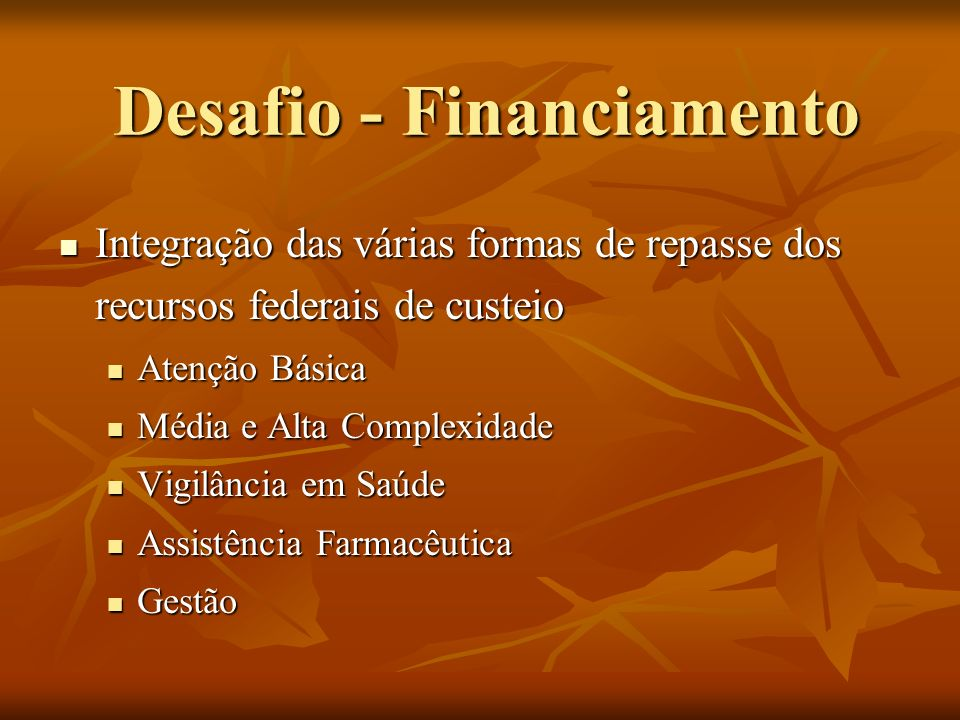 Desafio - Financiamento