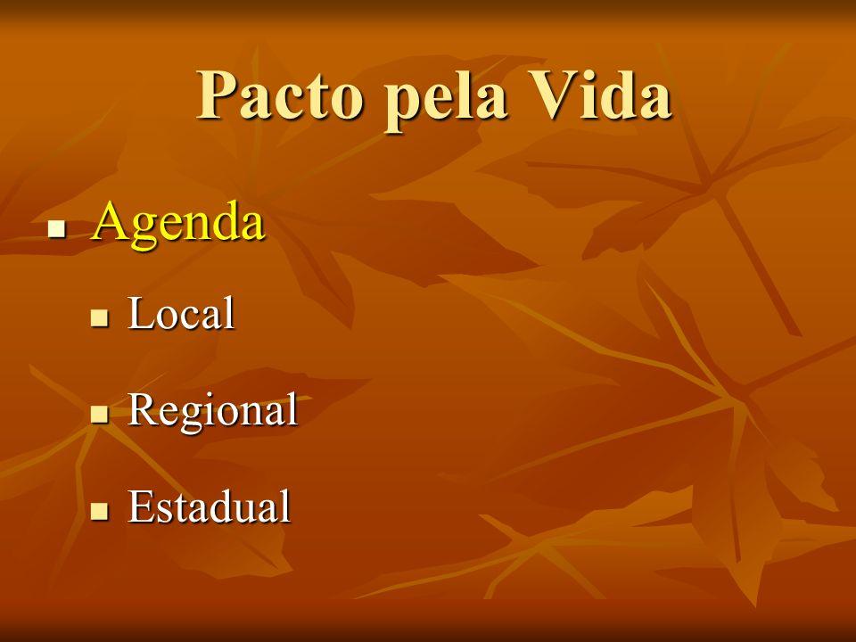 Pacto pela Vida Agenda Local Regional Estadual