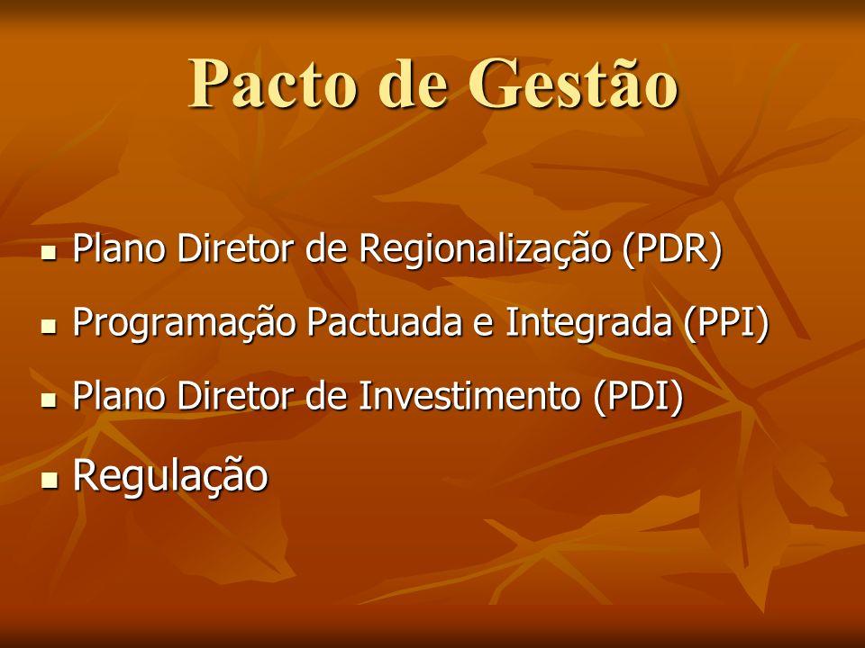 Pacto de Gestão Regulação Plano Diretor de Regionalização (PDR)