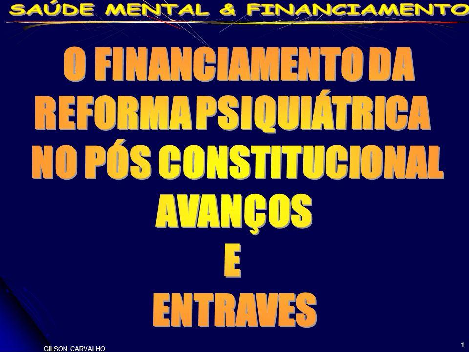 O FINANCIAMENTO DA REFORMA PSIQUIÁTRICA NO PÓS CONSTITUCIONAL AVANÇOS