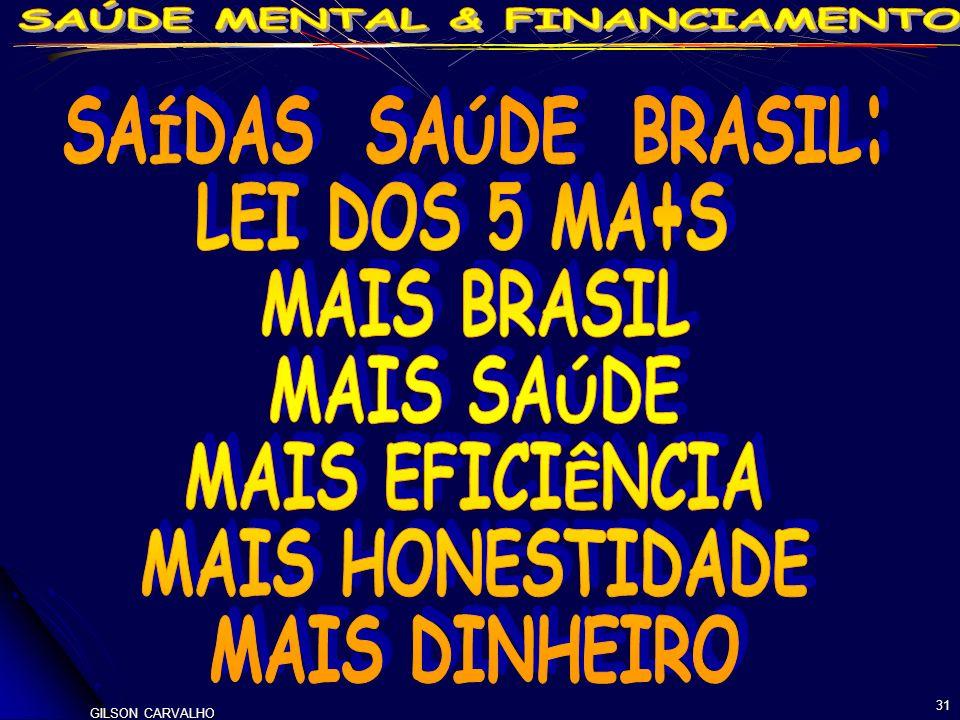 SAÍDAS SAÚDE BRASIL: LEI DOS 5 MA+S MAIS BRASIL MAIS SAÚDE