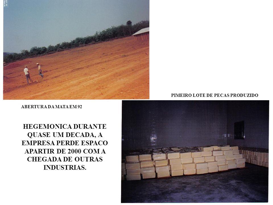 PIMEIRO LOTE DE PECAS PRODUZIDO