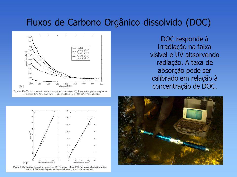 Fluxos de Carbono Orgânico dissolvido (DOC)
