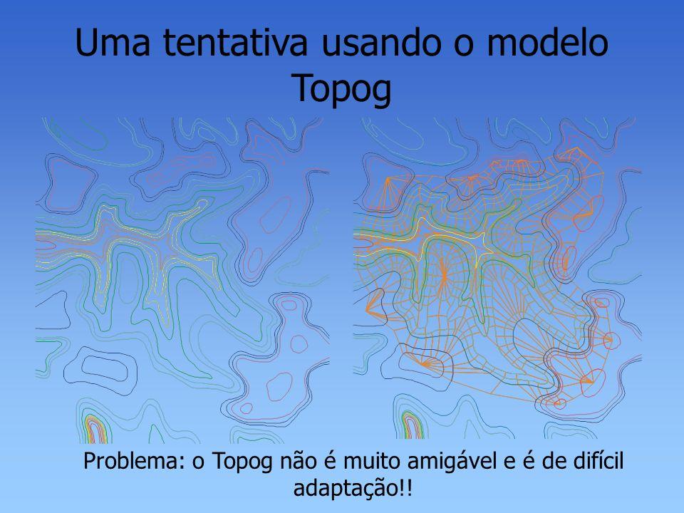 Uma tentativa usando o modelo Topog