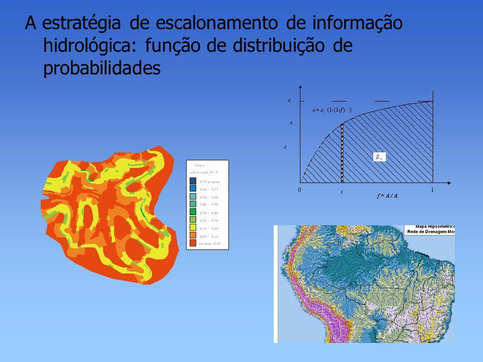 A estratégia de escalonamento de informação hidrológica: função de distribuição de probabilidades