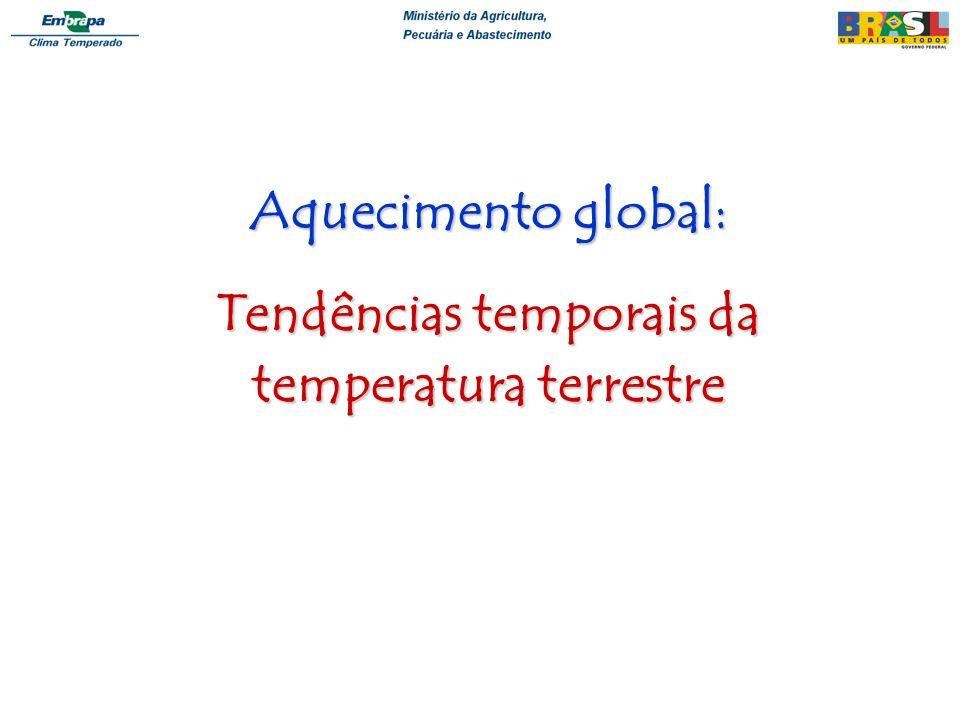 Tendências temporais da temperatura terrestre