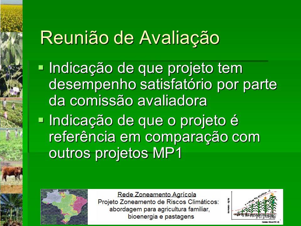 Reunião de Avaliação Indicação de que projeto tem desempenho satisfatório por parte da comissão avaliadora.