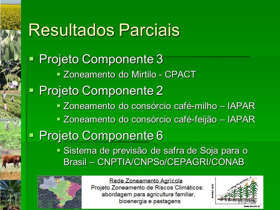 Resultados Parciais Projeto Componente 3 Projeto Componente 2