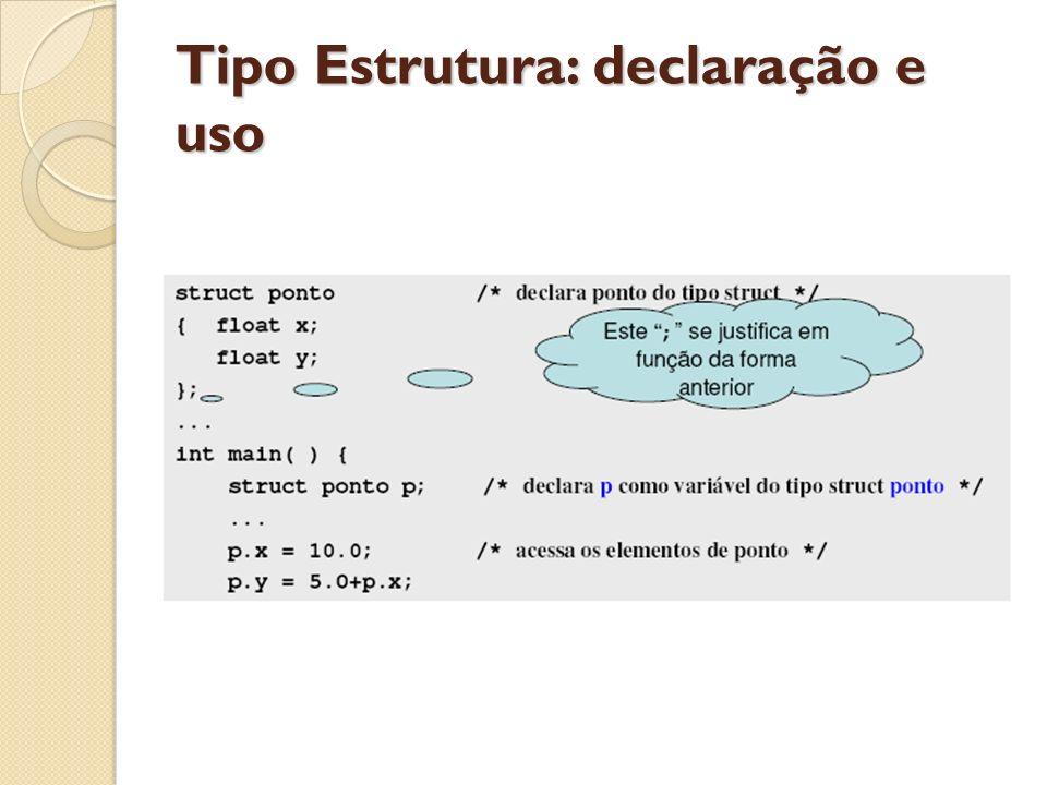 Tipo Estrutura: declaração e uso