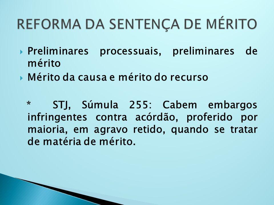 REFORMA DA SENTENÇA DE MÉRITO