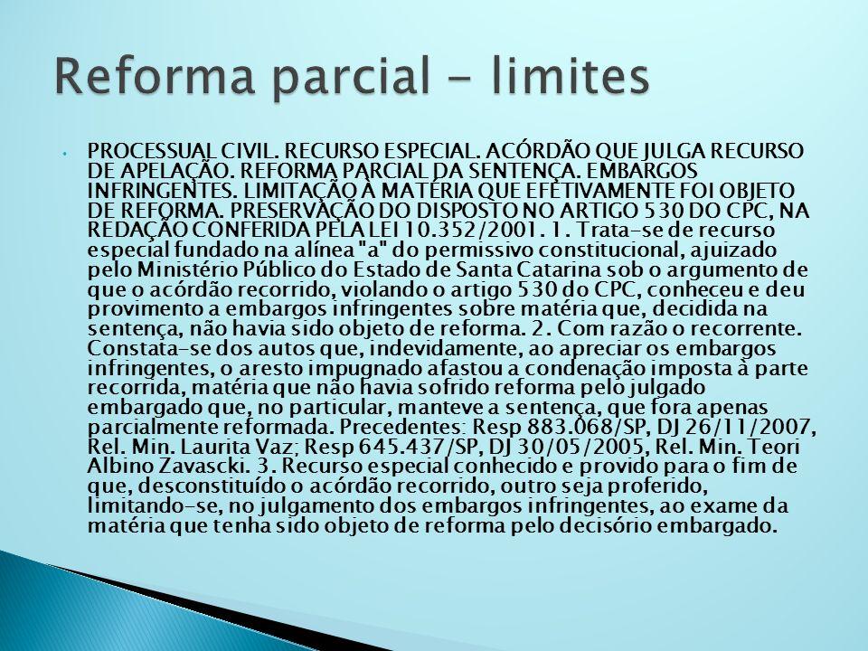 Reforma parcial - limites