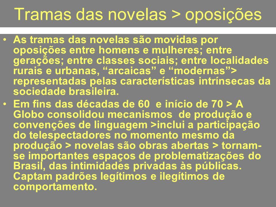 Tramas das novelas > oposições