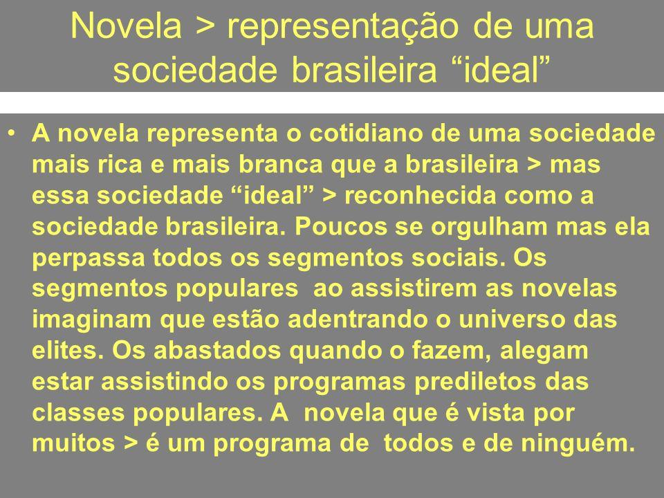 Novela > representação de uma sociedade brasileira ideal